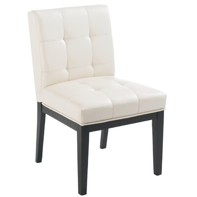 Broderick Parsons Chair (Set of 2) Chair Upholstery: Faux Leather Cream