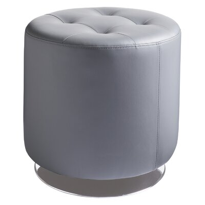 Urban Unity Domani Swivel Ottoman Small Upholstery: Grey