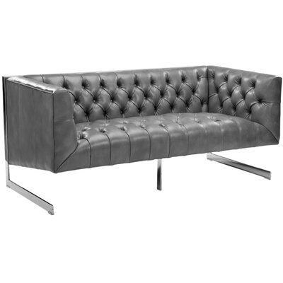 Club Viper Chesterfield Loveseat Upholstery: Grey