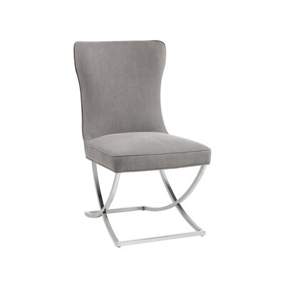 Rivoli Parsons Chair Upholstery: Linen Gray