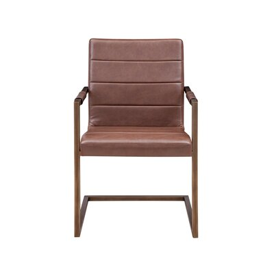 Jafar Arm Chair (Set of 2) Upholstery: Vintage Cognac
