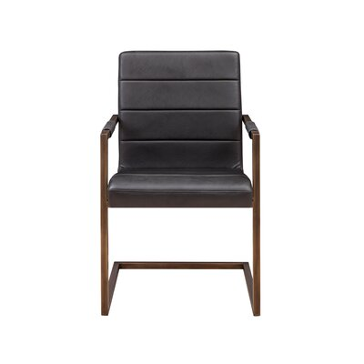 Jafar Arm Chair (Set of 2) Upholstery: Vintage Black
