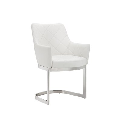 Chase Arm Chair Upholstery: White