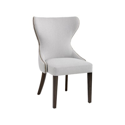 Ariana Side Chair Upholstery: Light Gray