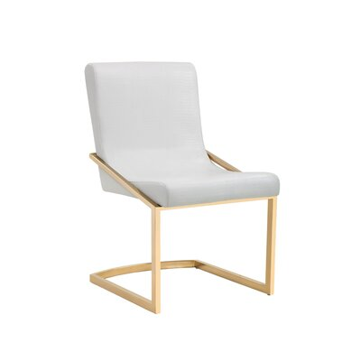 Marcelle Parsons Chair (Set of 2) Upholstery: White Croc