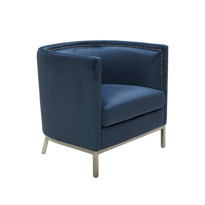 Wales Barrel Chair Upholstery: Ink Blue