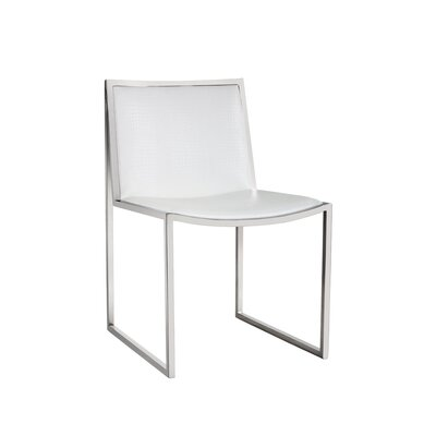 Blair Parsons Chair Upholstery: White Croc