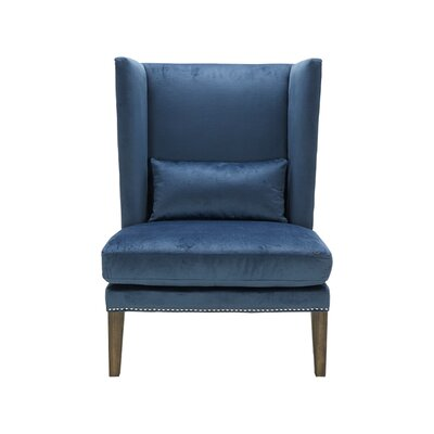 Malibu Wing back Chair Upholstery: Ink Blue