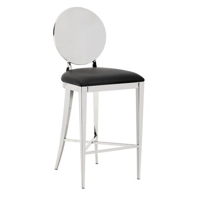 Marissa 26 Bar Stool with Cushion Upholstery: Black