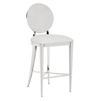 Marissa 26 Bar Stool Upholstery: White