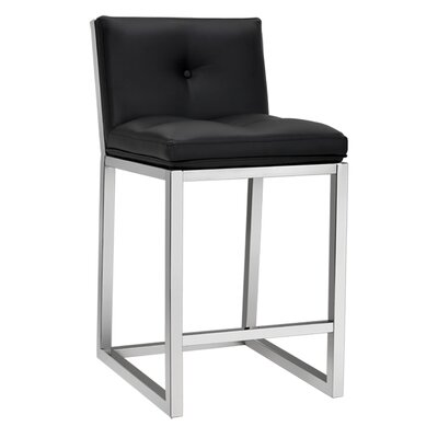 Alba 26 Bar Stool Upholstery: Black