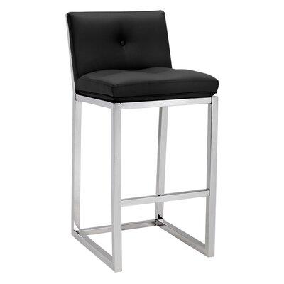 Alba 38 Bar Stool Upholstery: Black