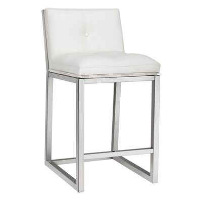 Alba 26 Bar Stool Upholstery: White