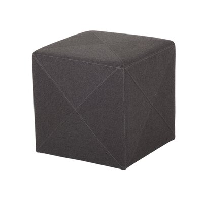 Jackson Cube Ottoman Upholstery: Dark Gray