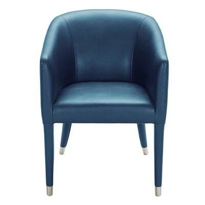 Marcus Leather Arm Chair Upholstery: Turquoise