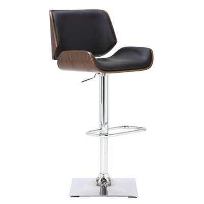 Kinley Adjustable Height Swivel Bar Stool Upholstery: Onyx
