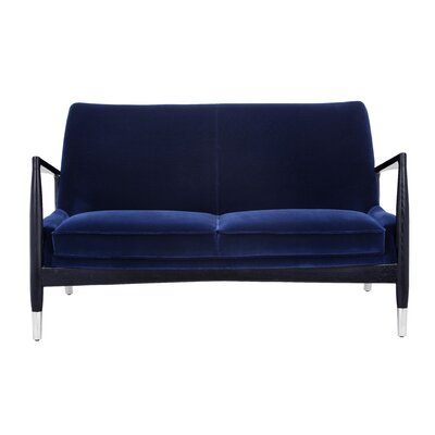 Club Frisco Settee Upholstery: Giotto Navy