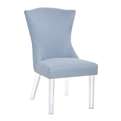 Ikon Sienna Parsons Chair Upholstery: Ice Blue