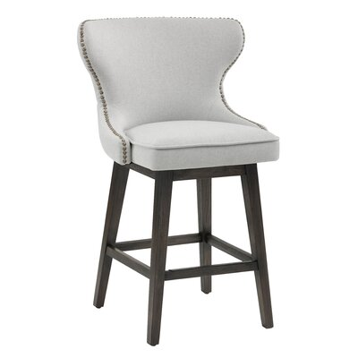 Ariana Height Bar Stool Upholstery: Light Grey