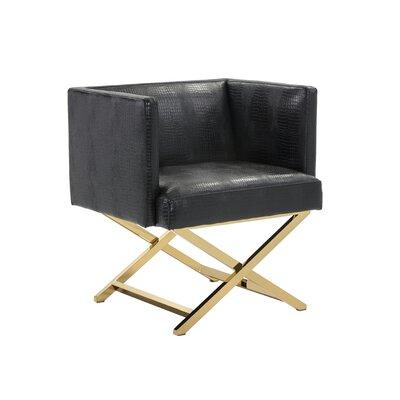 Ikon Matrix Barrel Chair Color: Black