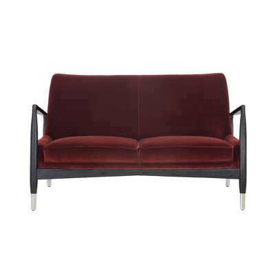 Club Frisco Settee Upholstery: Giotto Marsala