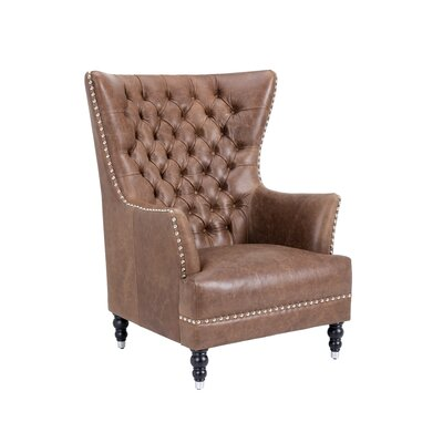 Rosedale Wing back Chair Color: Brown