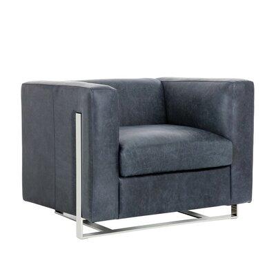 Club Keaton Armchair Color: Blue