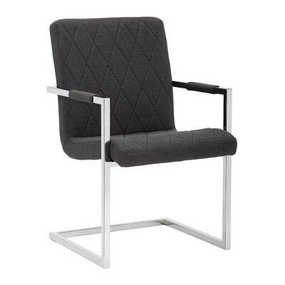 Kasper Arm Chair (Set of 2) Upholstery: Charcoal