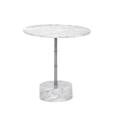 Milano End Table Color: White