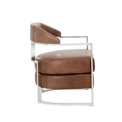 Club Kentworth Armchair Color: Brown