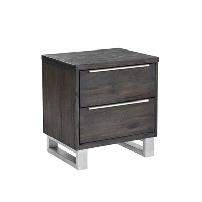 Rhodes 2 Drawer Nightstand Color: Espresso