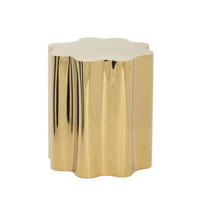 Ikon Dahlia End Table Color: Yellow Gold