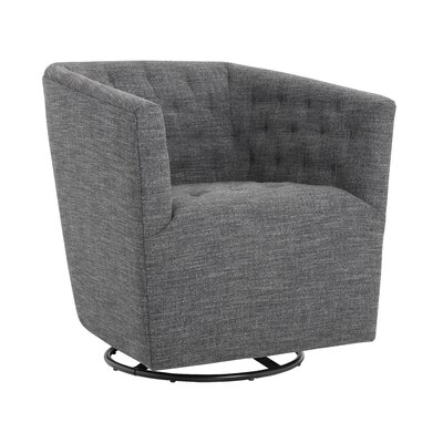 5West Reeves Swivel Armchair Color: Quarry
