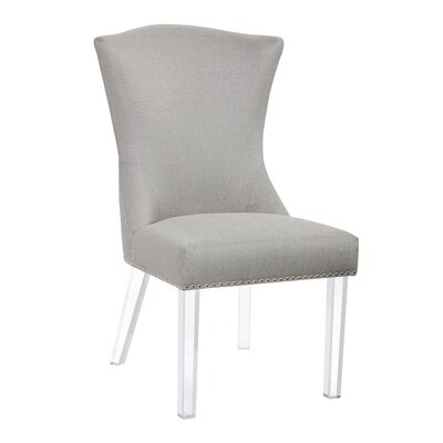 Ikon Sienna Parsons Chair Upholstery: Stone Grey