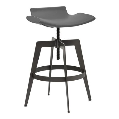 Urban Unity Adjustable Height Bar Stool Upholstery: Graphite
