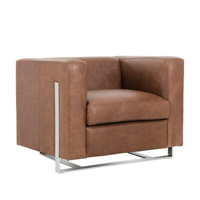 Club Keaton Armchair Color: Brown