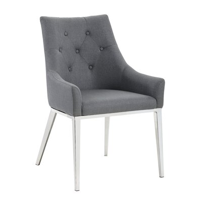 Ikon Evans Arm Chair Upholstery: Anchor Grey