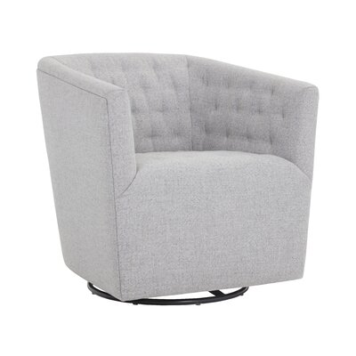 5West Reeves Swivel Armchair Upholstery: Marble