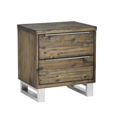 Rhodes 2 Drawer Nightstand Finish: Autumn Brown
