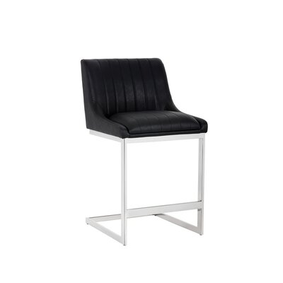Halden Bar Stool Upholstery: Black