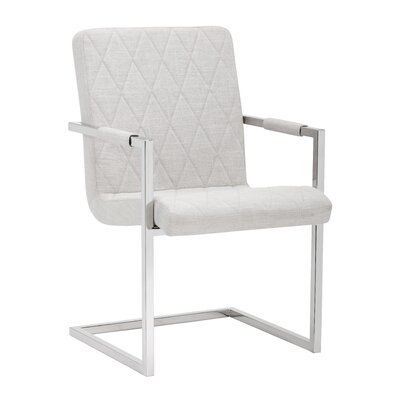 Kasper Arm Chair (Set of 2) Upholstery: Beige Linen
