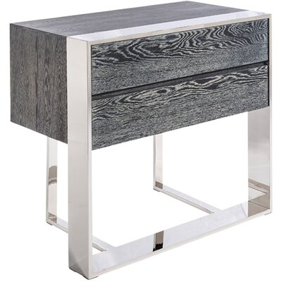 Club Dalton End Table Color: Grey