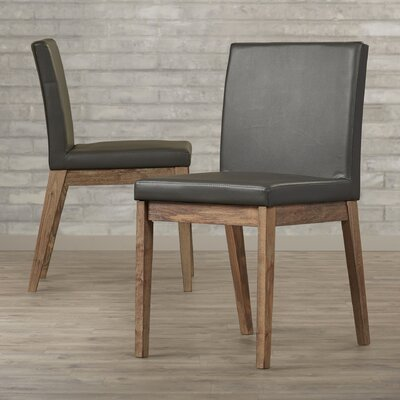Branson Side Chair (Set of 2) Upholstery: Grey