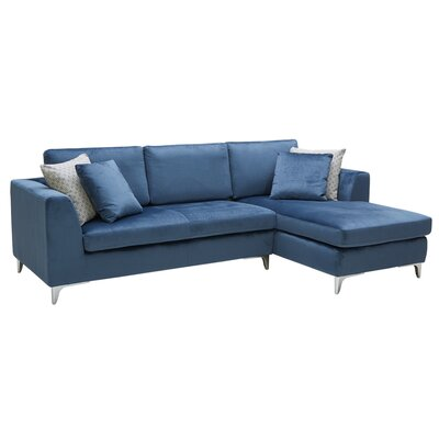 Virgilio Sectional Upholstery: Ink Blue