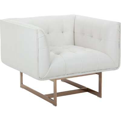 Club Matisse Armchair Upholstery: White