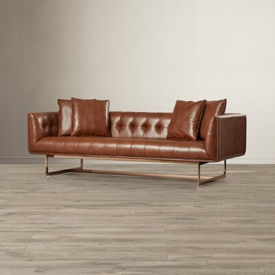 Matisse Leather Chesterfield Sofa Upholstery: Saddle