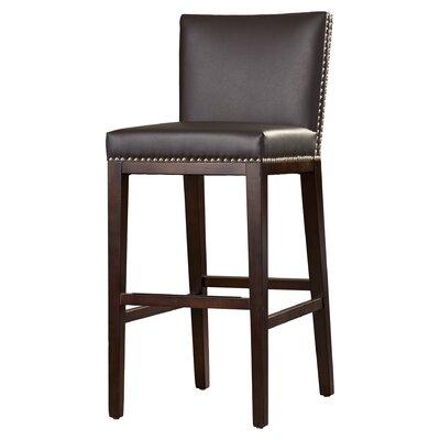Marten 30 Barstool Upholstery: Black