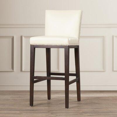 Marten 30 Barstool Upholstery: Cream