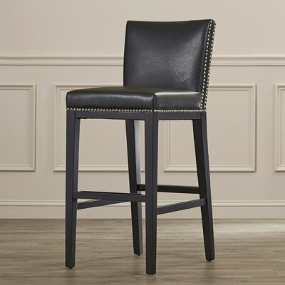 Marten 30 Barstool with Cushion Upholstery: Brown