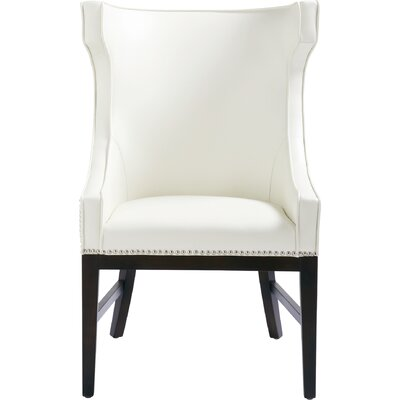 5West Kashmir Wingback Chair Upholstery: Ivory